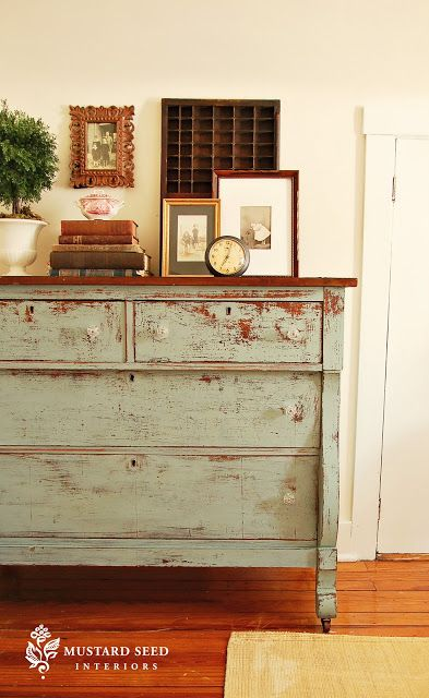 Craigslist Dresser Eulalie S Sky From Miss Mustard Seed Decorating A Top