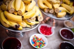 Banana Split Bar - would be cool for a birthday party or gathering.