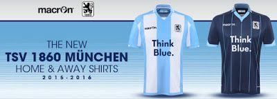 TSV 1860 Munich Jersey | Macron & TSV 1860 Munich reveal the new 2015/16 kits! - Blog, Soccer ...