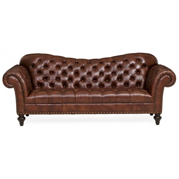 The Richard Leather Sofa Is Indeniably Handsome With Its Stylish Inverted  Camelback Design And Elegantly Adorned With Nailhead Trim.