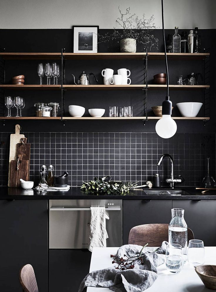 kitchen shelves black tiles kitchen kitchen shelves decor kitchen dark