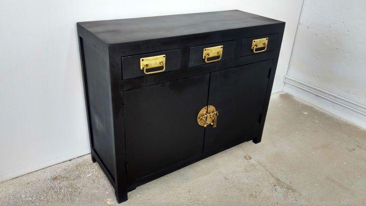 Schrank Sideboard Anrichte Kommode Massivholz schwarz China Asia Design