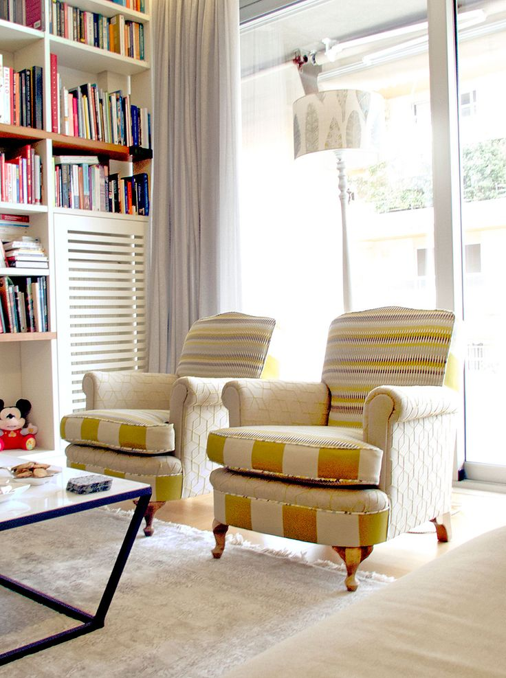 Vintage arm chairs renovated in modern style #ifigeniashome