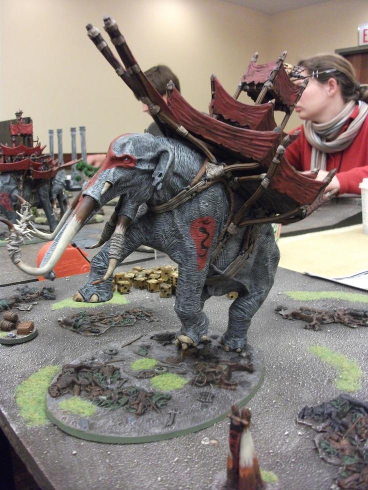 rearing mumak | Lord of the rings, Fantasy miniatures ...