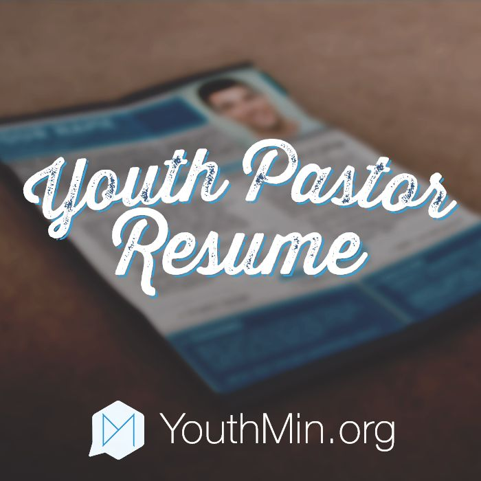 youth pastor resume template resources for youth