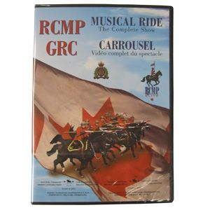 $29.99 Have you seen the Musical Ride in Action? Add this patriotic DVD to your collection and be amazed at the graceful movement of 32 RCMP Musical Ride Horses and the poise of their handlers, RCMP officers. The Musical Ride DVD includes the entire Musical Ride performace and is 40 minutes. Available at www.themountieshop.ca