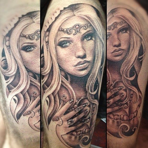 Teneile Napoli at Garage Ink Tattoo in Browns Plains, QLD, AU