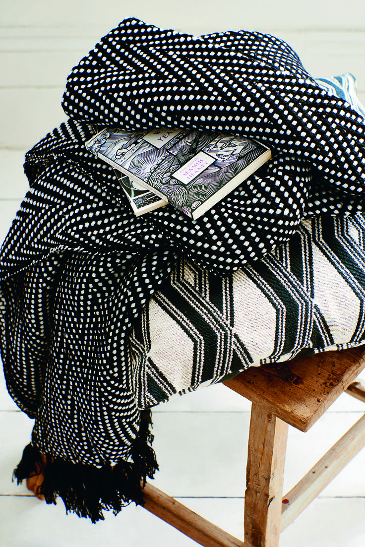Embrace decorating with black, white and grey as monochrome schemes are big news this season. Go all out with bold accessories with graphic patterns of diamonds, chevrons, herringbone and stripes.