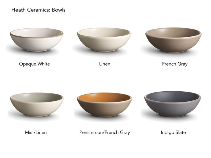 Heath Ceramics: Bowls