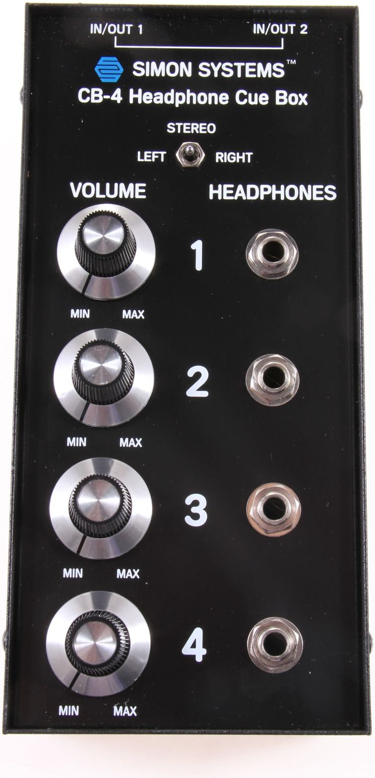 4-output Headphone Distribution Box with Independent Volume Control