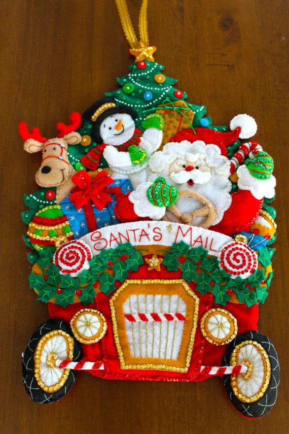 Bucilla Christmas Mail Truck Felt Applique by CHRISTMASCOLLECTIONS, $100.00