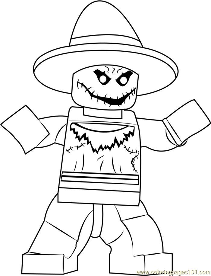 Lego The Scarecrow Coloring Page From Lego Coloring Pages Category