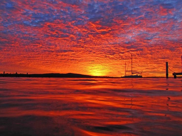 Lake Macquarie at dusk