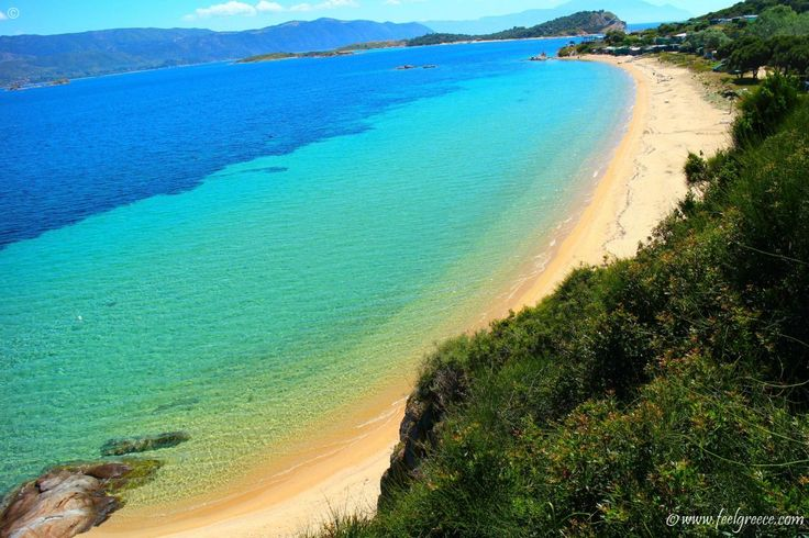 Megali Ammos, the southernmost beach on Ammouliani island