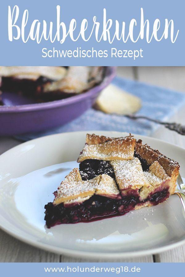 Schwedischer Blaubeerkuchen – Herbst Rezepte vegetarisch