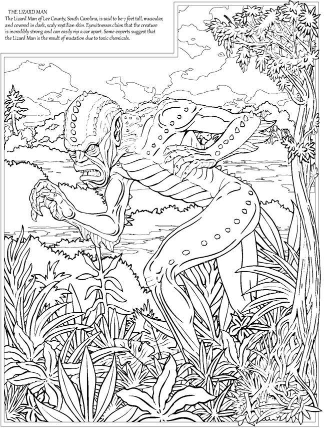 cryptid coloring pages - photo#16
