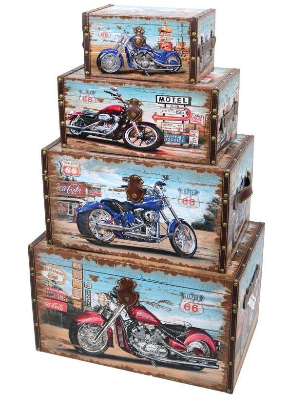 Sada kufrů s motorkami