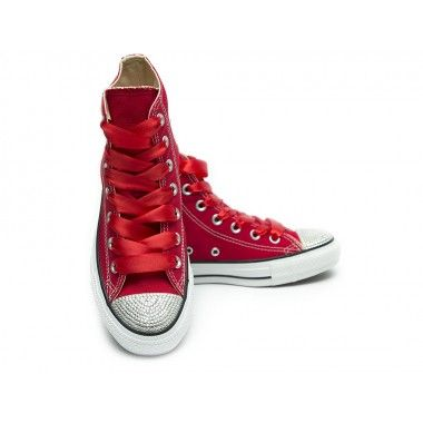 Converse Crystal High Red Silver