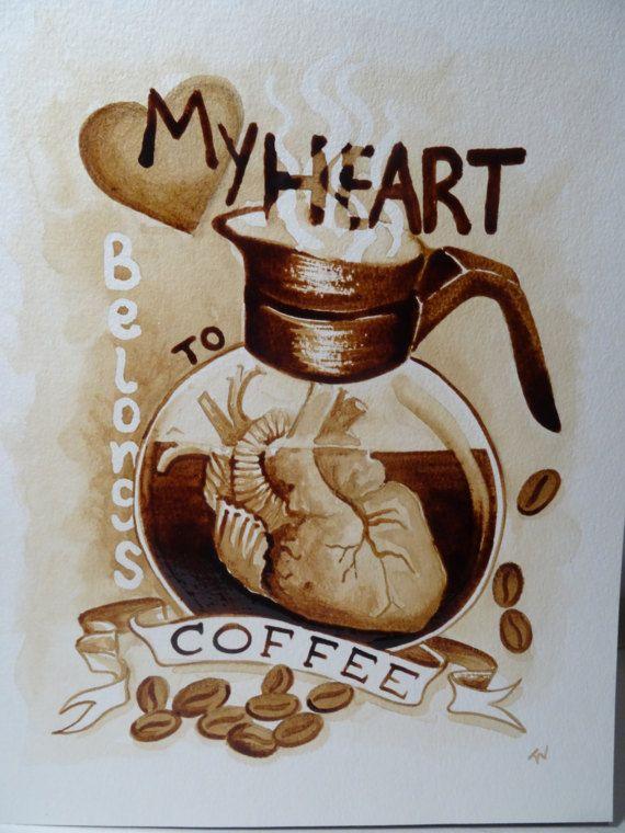 My heart belongs to coffee by TWCoffeeArtist on Etsy