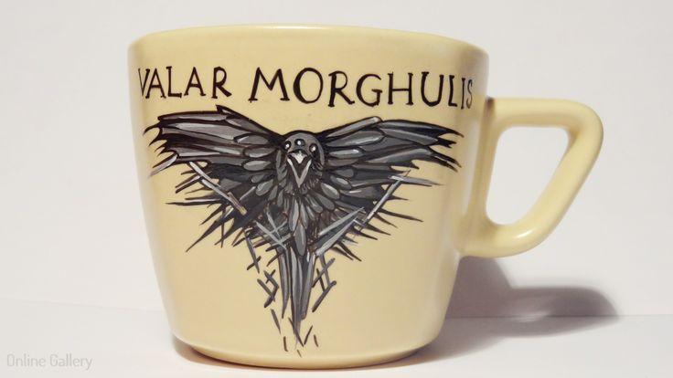 cana pictata game of thrones valar morghulis #handmade #painted #mug #art #valarmorghulis #gameofthrones #ironthrone #thirdeyeraven