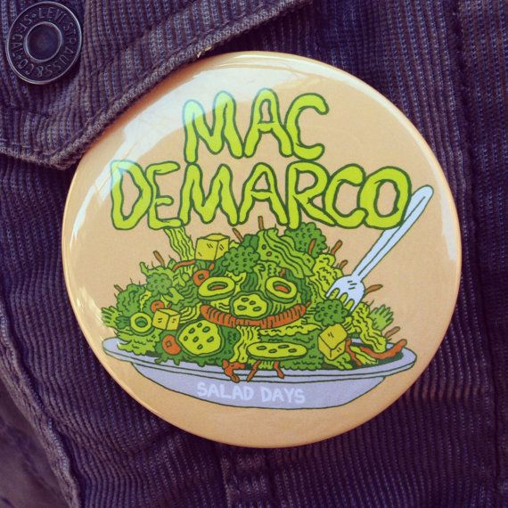 Mac Demarco 3x3 inch button by killeracid on Etsy, $5.00