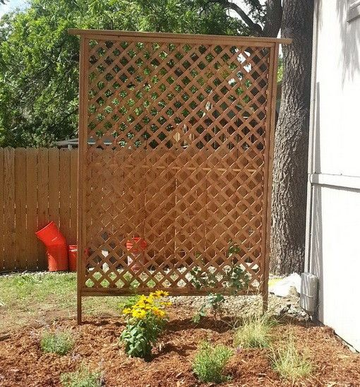 Basic Wood Trellis - Great project to gain some extra privacy in your backyard. Tutorial: Remove and Replace