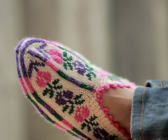 just sold $15 #Handmade #Knit #Crochet #accessories #stylish #discount #cheap #slippers