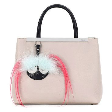 2Jours Petite Monster Mirror Satchel Bag by Fendi. Fendi smooth calfskin satchel bag with silvertone hardware. Hanging dyed fox (Finland) fur and dyed goat (China) fur ...