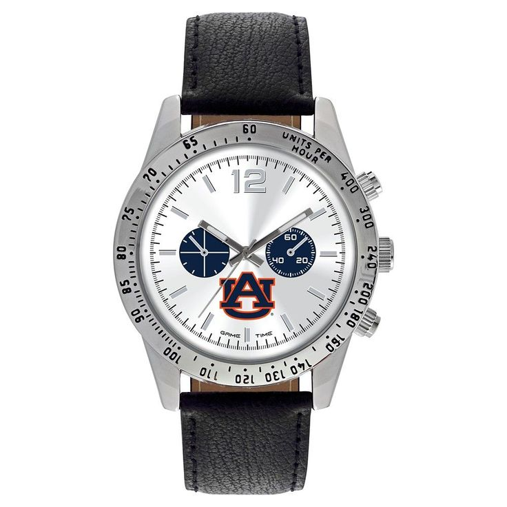 Men's Game Time NCAA Letterman Sports Watch - Black - Auburn Tigers