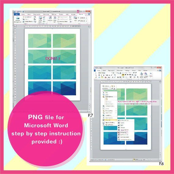 Polaroid Template Photo Template Microsoft Word Doc Psd Png Etsy