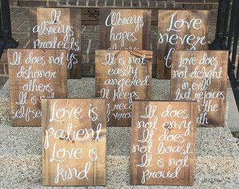 Amor es paciente es clase 1 Corintios 13 Set de 8 por apletters