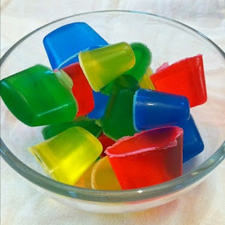 DIY Bath Crayons The Recipe: block of clear glycerin soap and food