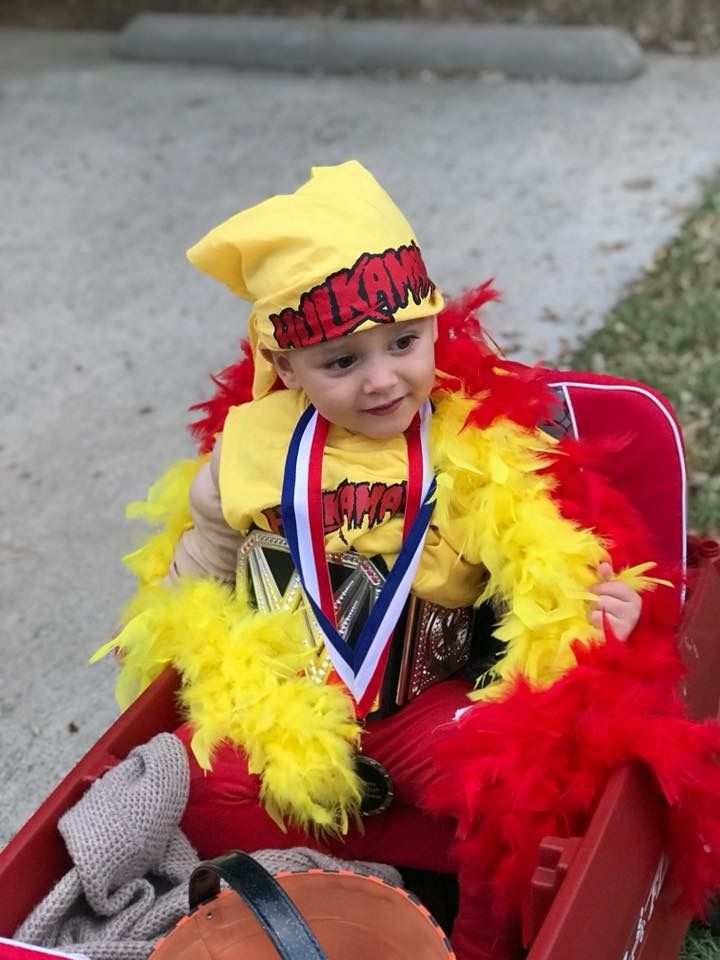 Toddler boy Halloween costume. Hulk Hogan.