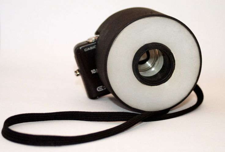 Give your cheap digital camera a cool upgrade by creating a ring flash diffuser from stuff around the house!