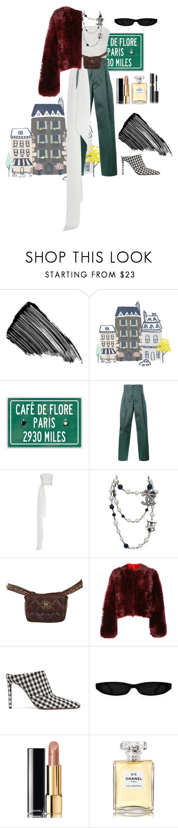 """""""Going some Chanel store in Paris."""" by bxlenciaga ❤ liked on Polyvore featuring Sisley, Raf Simons, Chanel, Calvin Klein 205W39NYC and Altuzarra"""