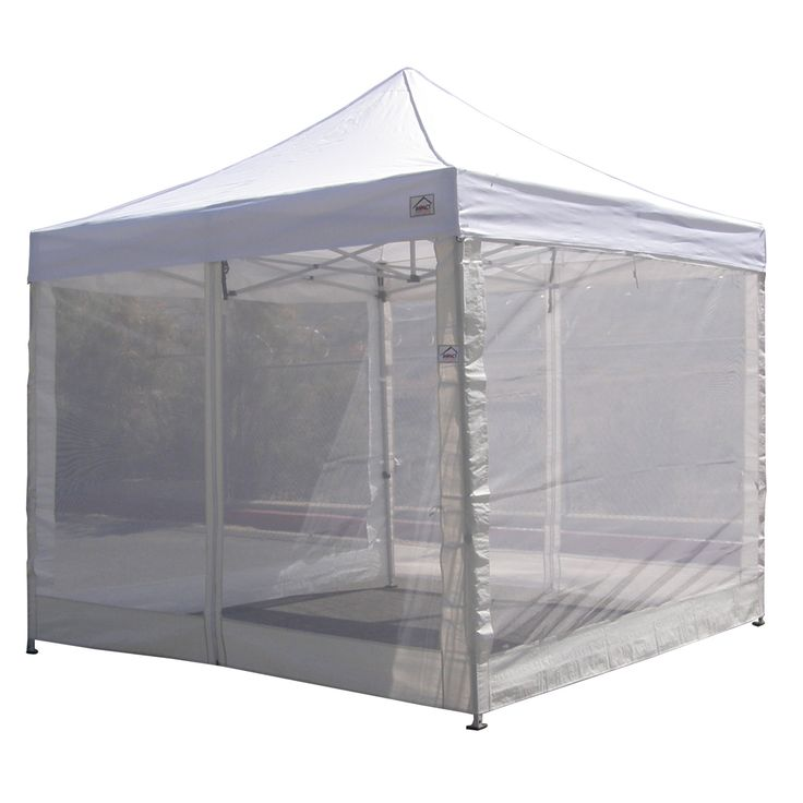 10x10 Pop Up Canopy Tent Mesh Sidewalls Screen Room Mosquito Net