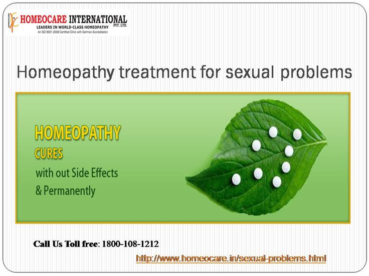 Homeopathy remedies are dilute, so safe and free of side-effects. It has been argued that they can act as a catalyst, pushing the body's own systems (including its immune system) in the direction of a cure.  Call Us Toll Free: 1800-108-1212 To Get Relieve from this visit us @:  http://www.homeocare.in/sexual-problems.html