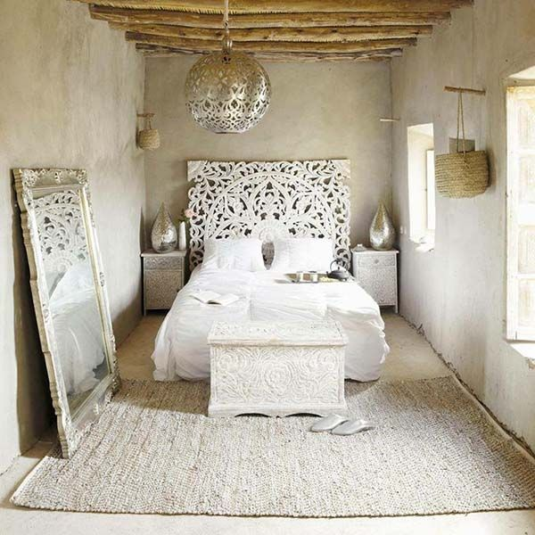 love the orb and two matching metallic vases love the headboard and large white mirror