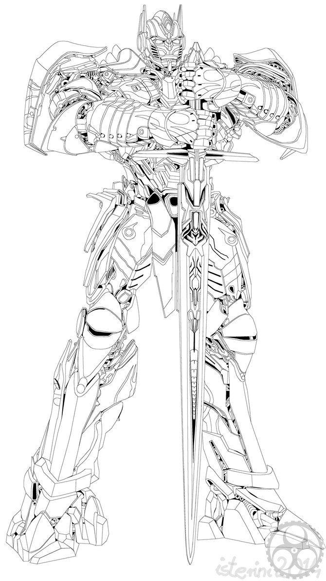 Optimus Prime Coloring Page Unique