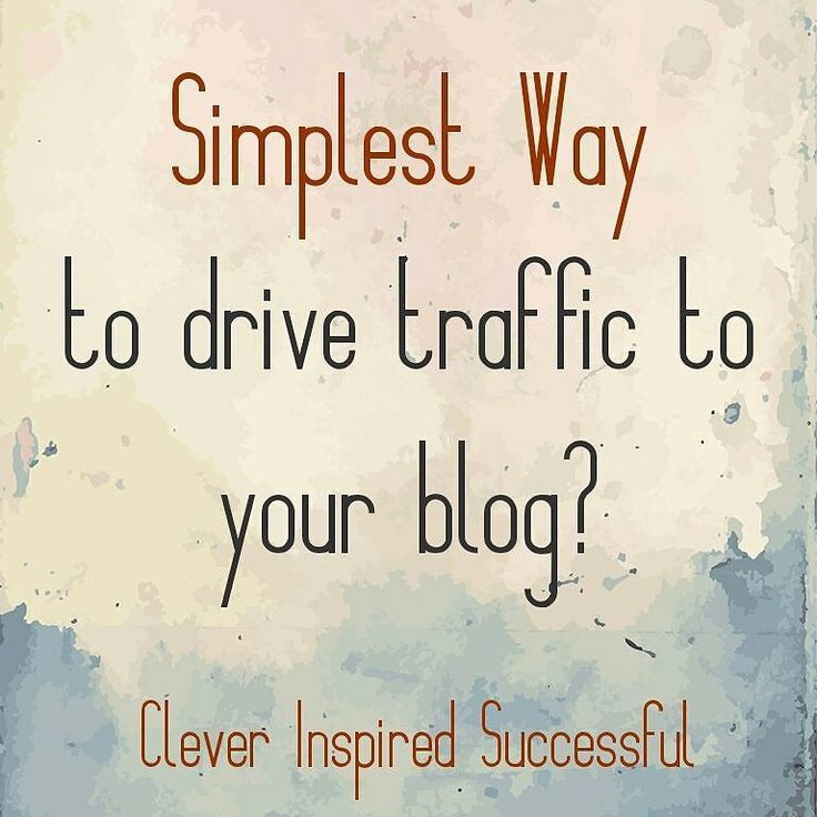 What's the simplest way to drive #traffic to your blog?  Click the link in bio to find out! > > #linkinbio Get updates and special offers on Instagram http://ift.tt/1W9wMhj Twitter http://twitter.com/Clever_Inspire Like and share our official Facebook page http://ift.tt/21xvvjy #moneyonline #comment #comments #commentbellow #cash #makemoney #makemoneyonline #makemoneyfromhome #makemoneyfast #makemoneynow #easymoney #easycash #getpaid #workfromhome #onlinemoney #workfromhomemom…