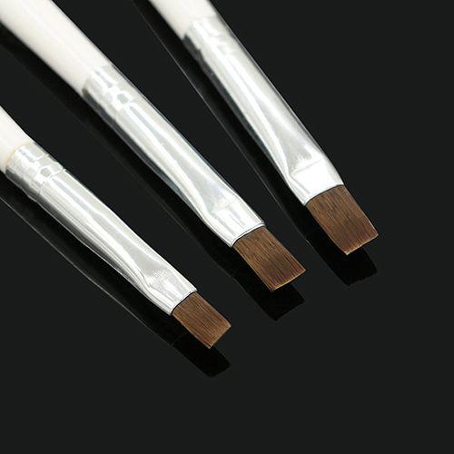 3 Pcs acrílico Nail Art Salon dicas Pen UV Gel Builder pintura escova alishoppbrasil