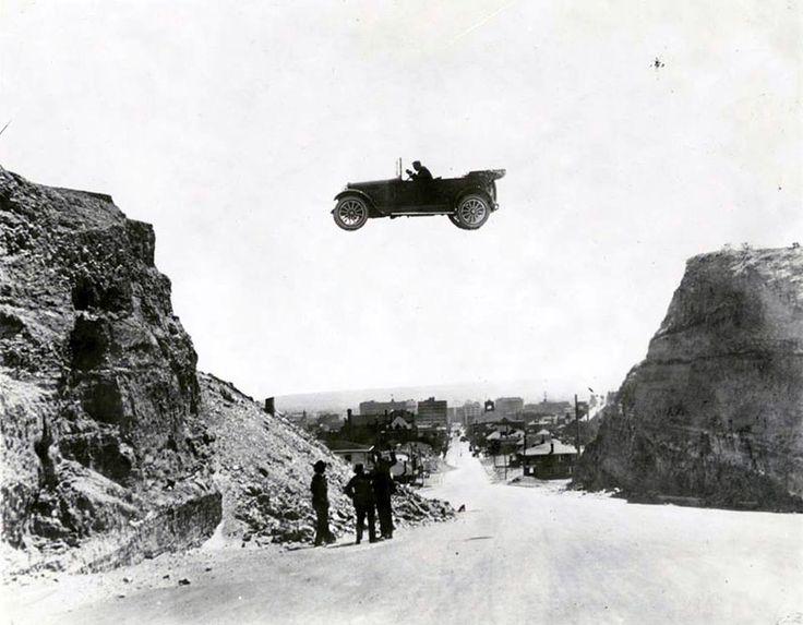 1922. Прыжок на автомобиле. Эль Пасо (Техас)