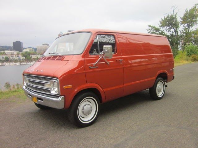 1977 Dodge Tradesman B200 Panel Van. 3rd vehicle. Bought for 2nd assignment - San Jose Cali. in '76. Wreck on way there eventually made me trade for Camaro.