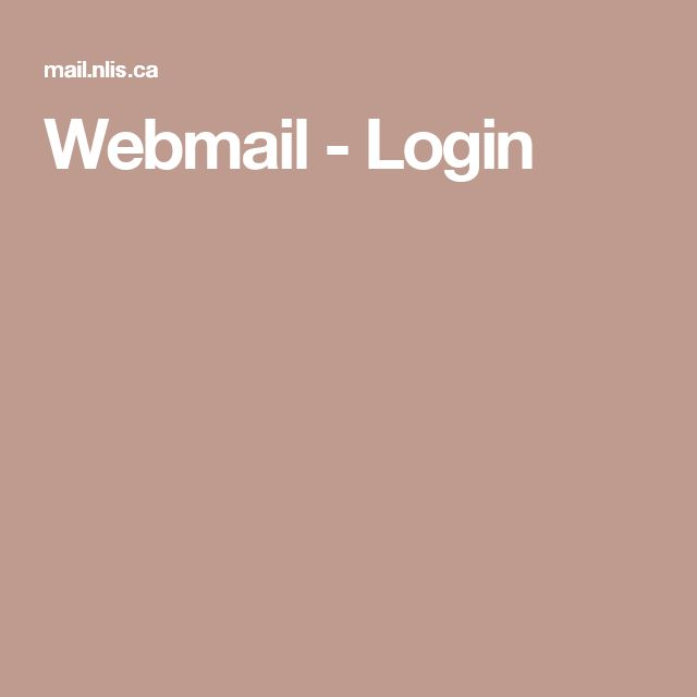 Webmail - Login