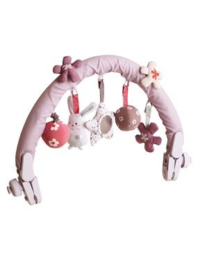 Arche de jeux d eveil pour transat bebe fleurettes vertbaudet
