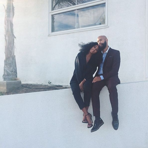 Knocks Her Off Her Feet   - The Most Amazing Photos of Solange and Husband Alan Ferguson's Sweet Love