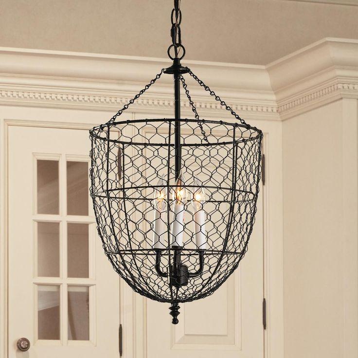 Chicken Wire Smokebell Lantern Kitchen Dining Rooms