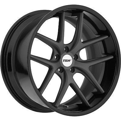 20x8.5 Gunmetal Black TSW Portier Wheels 5x4.5 40 Fits Q45 Q60 QX50