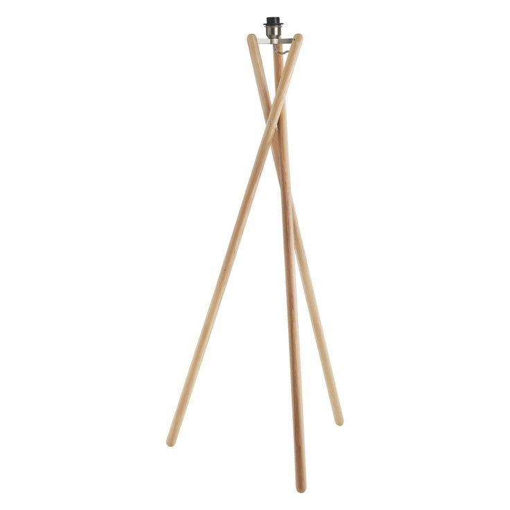 LANSBURY Ash wooden tripod floor lamp base