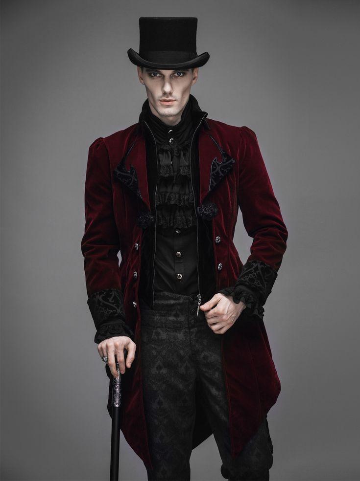 photo n°6 : Veste gothique bordeaux homme DEVIL FASHION